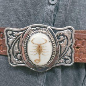 Other - Western White 3D Scorpion Belt Buckle For Men